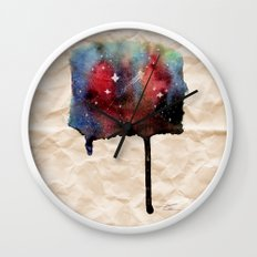 Little Nebula Watercolor Wall Clock