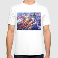 Koi Krazy Mens Fitted Tee SMALL White