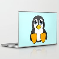 penguin Laptop & iPad Skins featuring Penguin by BlackBlizzard