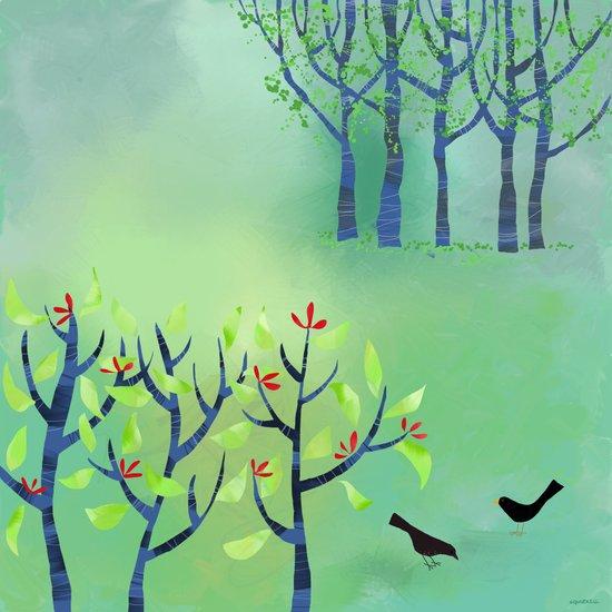 April Canvas Print