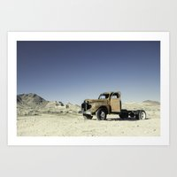 Abandoned Pick-up Truck Art Print