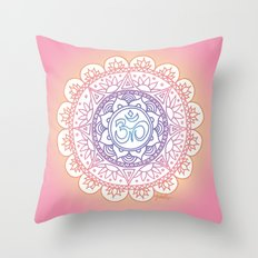 Peaceful Ohm Mandala Throw Pillow
