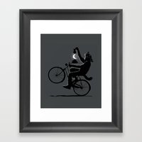 Guided by the Moon Framed Art Print