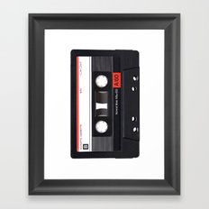 Old School Tape Framed Art Print