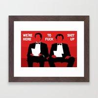 Step Brothers Framed Art Print