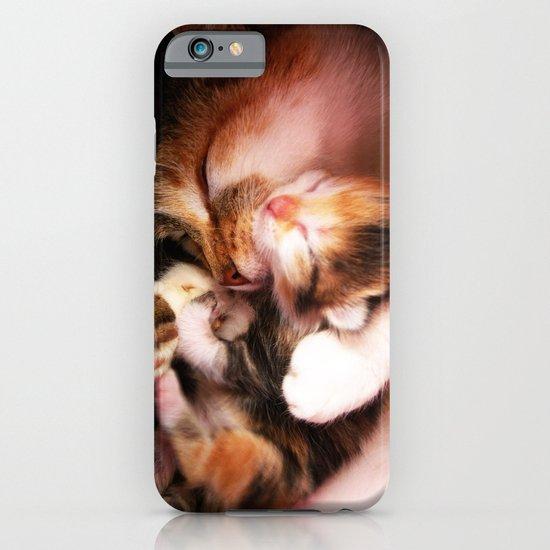Cats hug iPhone & iPod Case