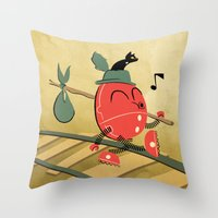 It's A Carefree Hobo Lif… Throw Pillow