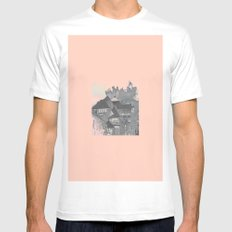 Modern in York II SMALL Mens Fitted Tee White