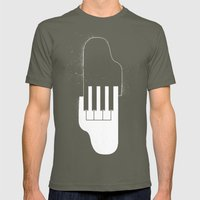 Music Hands Mens Fitted Tee Lieutenant SMALL