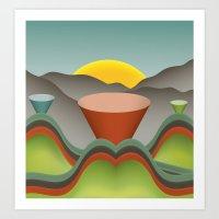 Technicolor Landscope Art Print