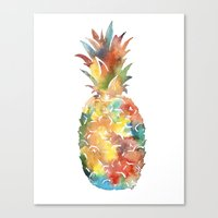 Colorful Pineapple Canvas Print