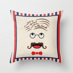 Barbershop Wisdom Throw Pillow