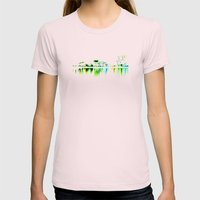 white harbor II. Womens Fitted Tee Light Pink SMALL