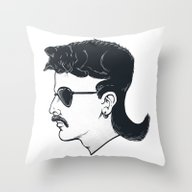 The Mullet Throw Pillow