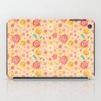 Peach Roses iPad Case