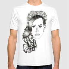 Lana Del lovely White SMALL Mens Fitted Tee