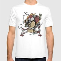 JunkBot Mens Fitted Tee White SMALL
