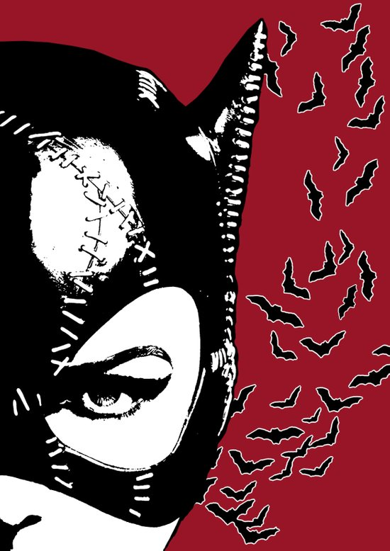 Red Catwoman Canvas Print