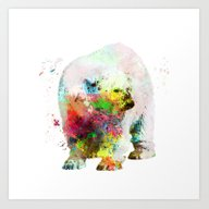 Bear Painting Art Print