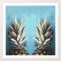 How About Those Pineapples Art Print