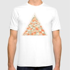 Triangulation White Mens Fitted Tee SMALL