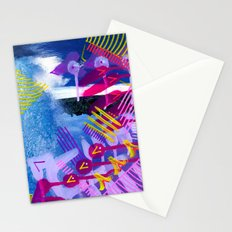 Wave purple Stationery Cards