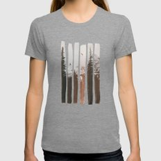 Into The Wild Womens Fitted Tee Tri-Grey MEDIUM