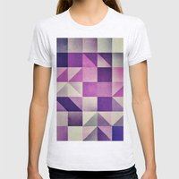 :: geometric maze VI :: Womens Fitted Tee Ash Grey SMALL