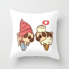 Puglie Froyo And Ice-Cre… Throw Pillow