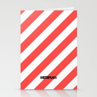 Infrared Lines / White Stationery Cards