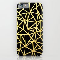 Abstract Outline Thick Gold iPhone 6 Slim Case