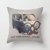 Hip The Road, Jack! Throw Pillow