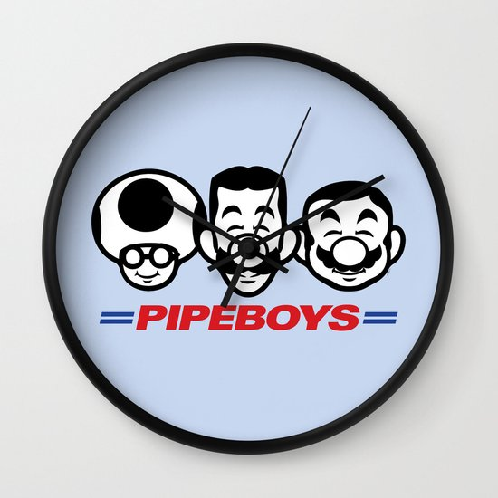 Pipe Boys Wall Clock