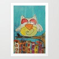 Urban Owl  Art Print