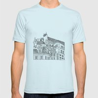 Old Town (Stare Miasto) - Warsaw, Poland Mens Fitted Tee Light Blue SMALL