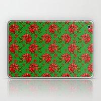 Red Poinsettia Plaid Laptop & iPad Skin