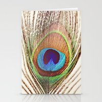 peacock Stationery Cards featuring Peacock by Laura Ruth