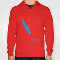 Blue Feather Hoody