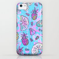 iPhone 5c Cases featuring Pineapple Mix by Ornaart
