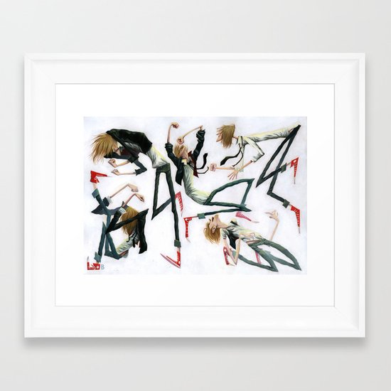 Dancing Dudes Framed Art Print