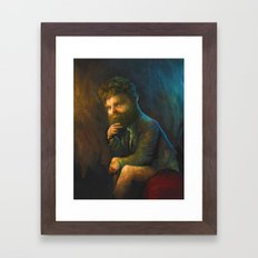 Zach Galifianakis Framed Art Print