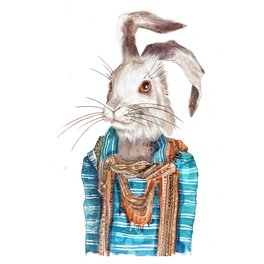 Art Print - hare - Farrukh Juraev