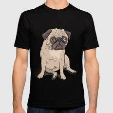 Lilly (pug) Black SMALL Mens Fitted Tee