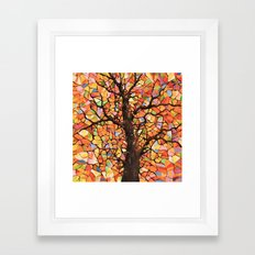 Stained Glass Tree #2 Framed Art Print