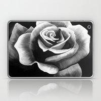 Black and White Rose Laptop & iPad Skin