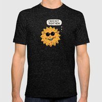Hot Sun Mens Fitted Tee Tri-Black SMALL