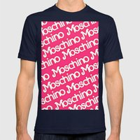 Moschino Everything Mens Fitted Tee Navy SMALL