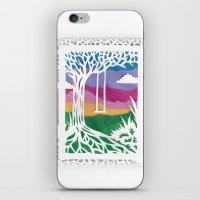 Sunset Swing Papercut iPhone & iPod Skin