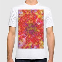 Fractal Imagination III Mens Fitted Tee Ash Grey SMALL