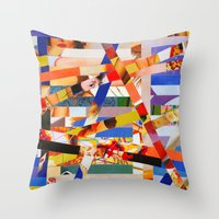 Jacqueline (stripes 7) Throw Pillow